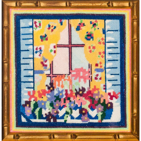 """Needlepoint Floral WindowBox"""