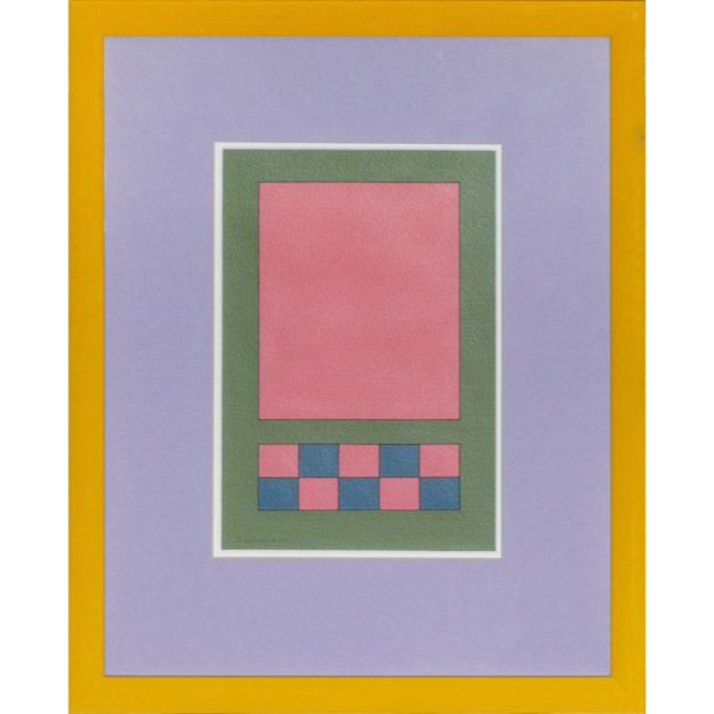"""Geometric Blocks"" 1995 by Fairfield Gordon Coogan (b.1924-) of York, ME"