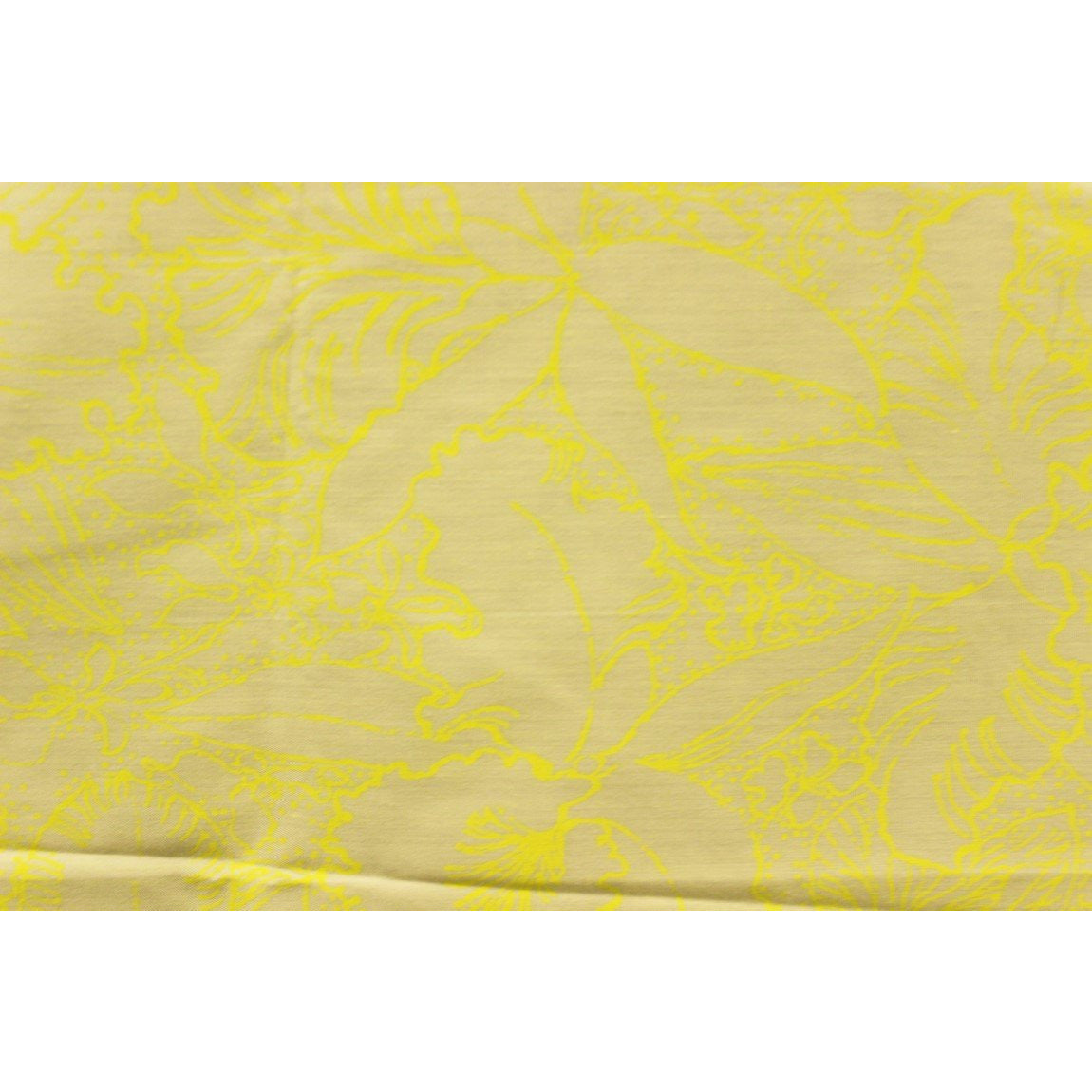 Lilly Pulitzer Vintage Yellow Floral Print Fabric