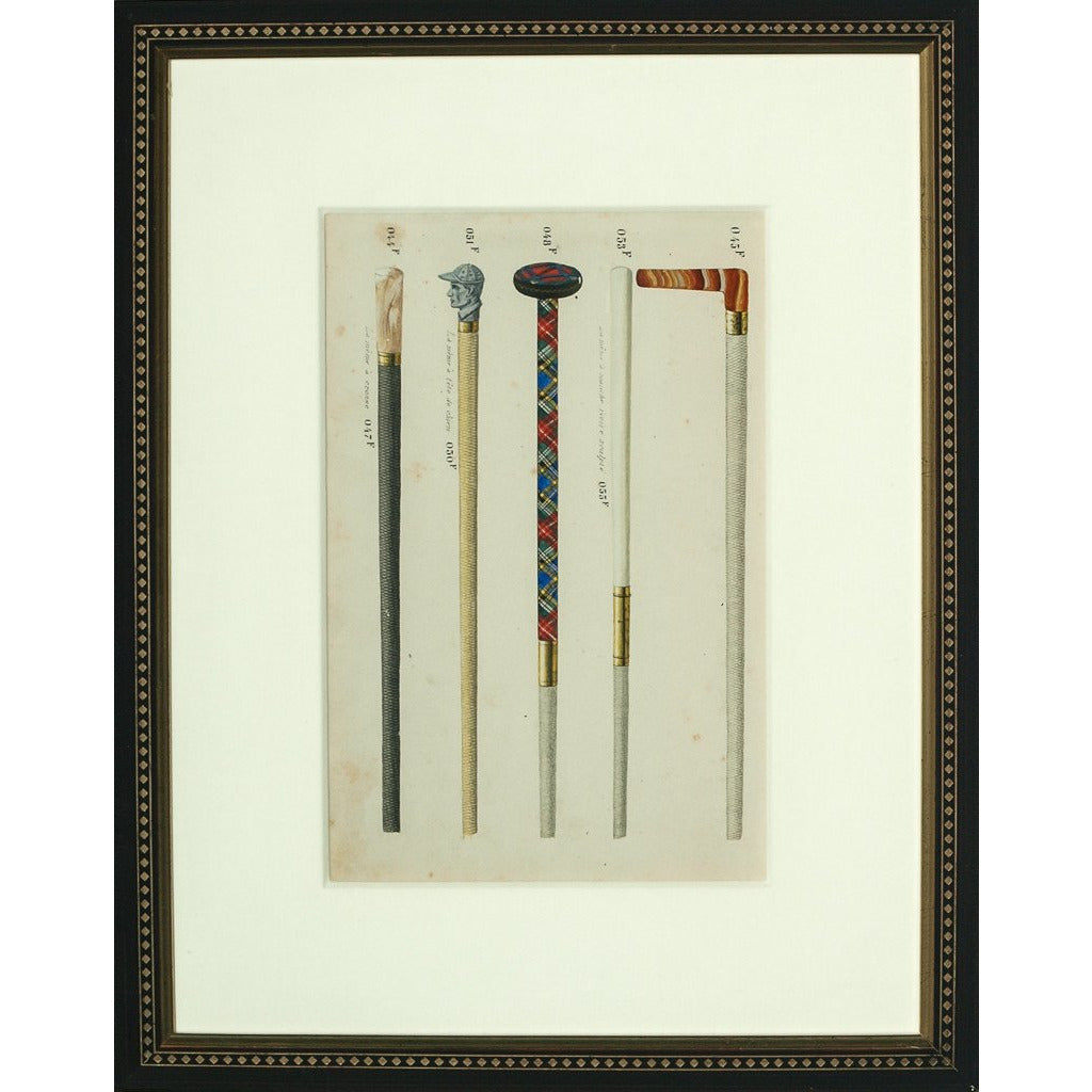 Five Gents' French Walking Sticks