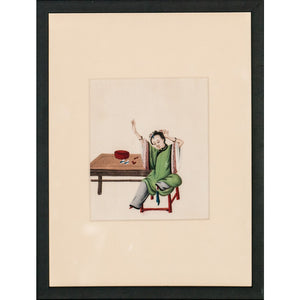 Chinese Lady in Jade Robe