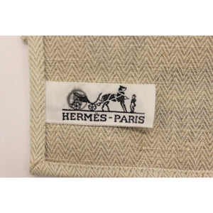 Pair of Hermes Cotton Twill Surcingle Table Mats