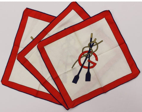 """Three Pc. Nautical Gucci Cotton Twill Place Mats"""