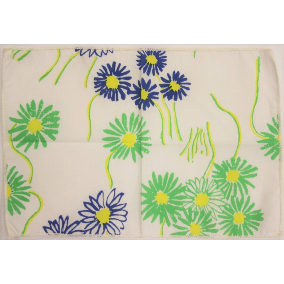 3pc Lilly Pulitzer c60's Pocket Squares with Green & Blue Floral Pattern