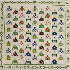 Pair of Place Mats w/ Multicolor 'Jockey Silks' Print