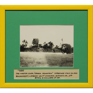 Green Mountain 1928 B&W Framed Photo
