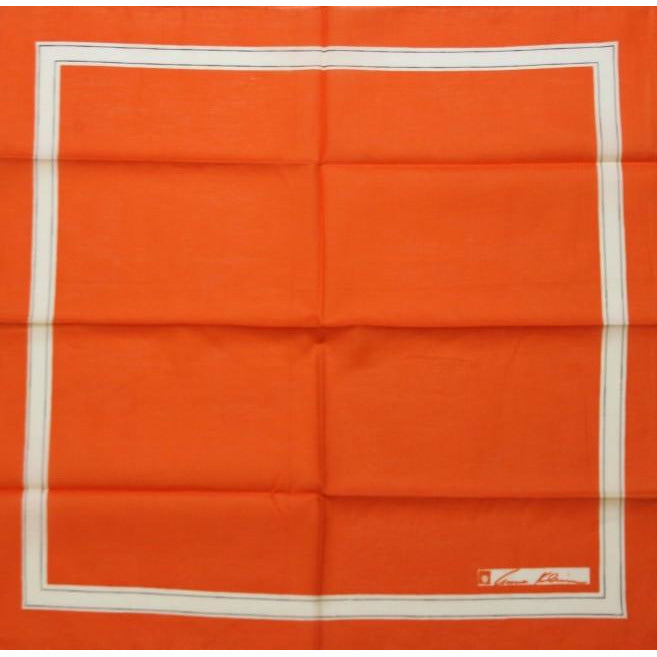 Anne Klein Ladies Orange Bandana w/ White Trim