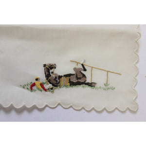 Set of 7 Madeira Linen Steeplechase Cocktail Napkins