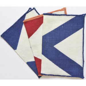 3pc Red/White & Blue Nautical Cocktail Napkins