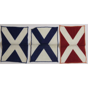 Red/ White & Blue 3pc Nautical Cocktail Napkins