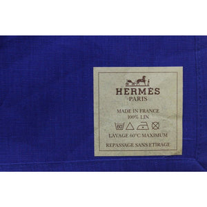 Hermes of Paris Royal Blue Linen Handkerchief