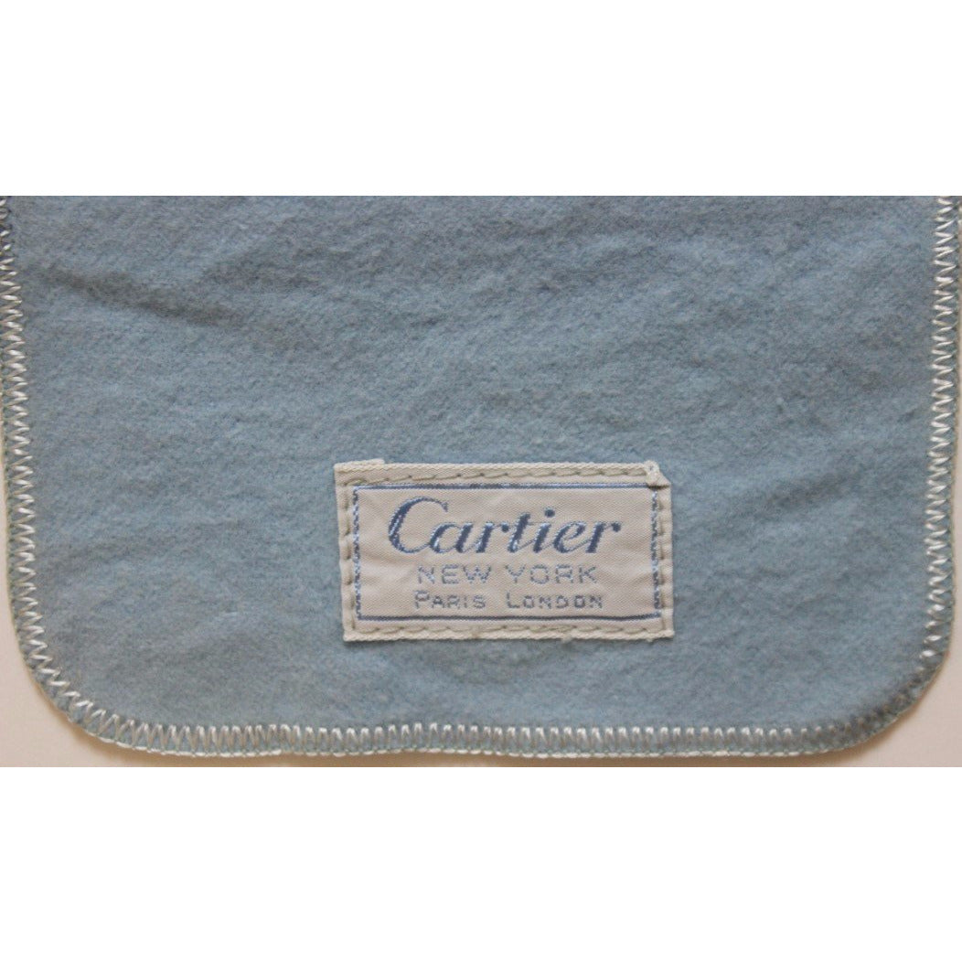 6pc Set of Cartier Chamois Bags for Sterling Silverware
