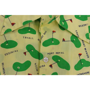 Men's Vintage S/S Sport Shirt w/ Bermuda Golf Course Images
