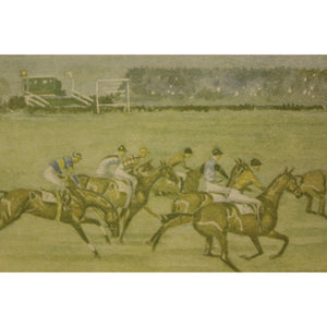 Historic Becher's Brook The First Time Around in The Grand National of 1933 at Aintree