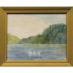 """Fishermen On Great Sacandaga Lake"" Watercolor by B.M. Kremitske"