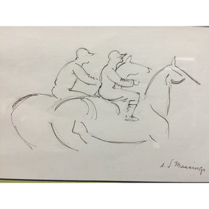Sketch of Two Jockeys Up