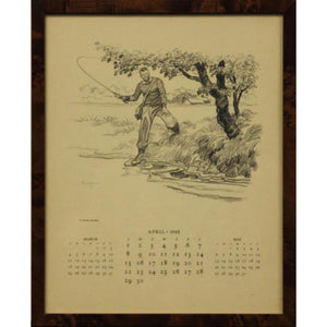 "Brooks Brothers Calendar/ Paul D. Brown ""Spring Fly-Fishing"" April 1945"