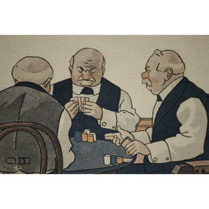 Five Gents Playing Poker