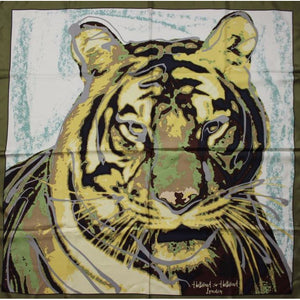 Holland & Holland Tiger Print Silk Scarf
