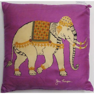 Jim Thompson Fuchsia Thai Elephant Silk Pillow
