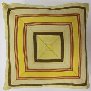 Yellow & Orange 'Cube' Stripe Pillow