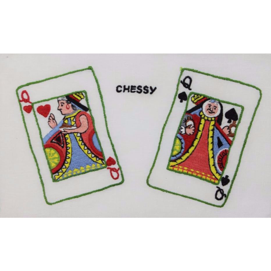 Set of 4 'Chessy Playing Cards' Cocktail Napkins