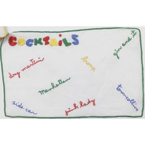 Set of 6 Madeira Linen Multicolor 'Cocktails' Napkin Set