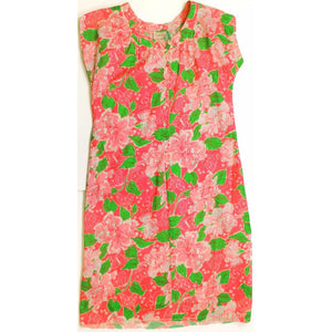 Lilly Pulitzer Sundress w/ Lime Green & Bright Pink Floral Pattern