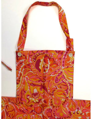 Lilly Pulitzer Apron w/ Bright Orange & Pink Paisley
