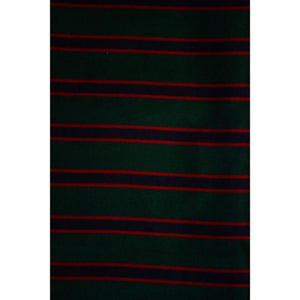 'Brooks Brothers English Silk Neckwear Fabric w/ Green, Navy & Maroon Regimental Stripes'