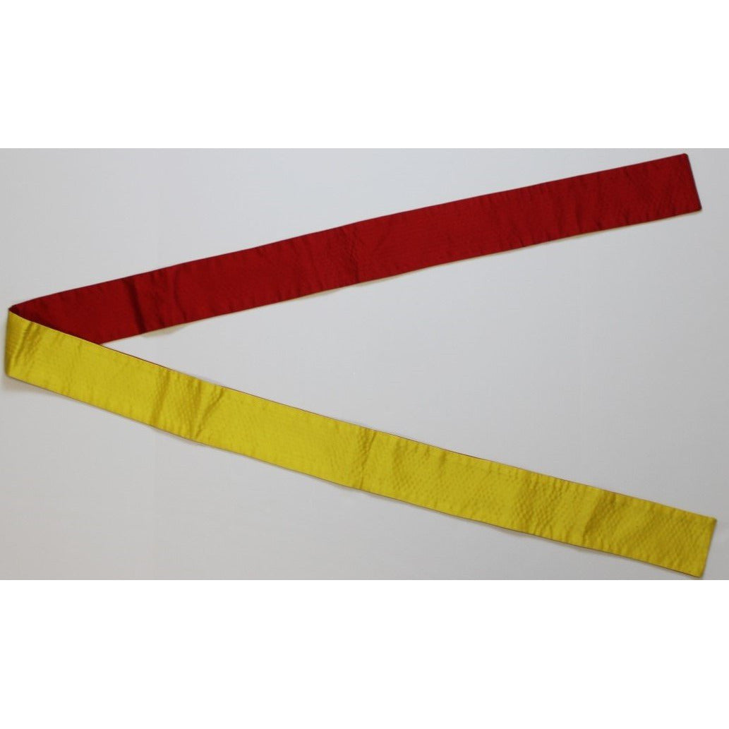 Reversible Red & Yellow Quilted Sash