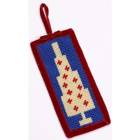Needlepoint Xmas Tree Ornament
