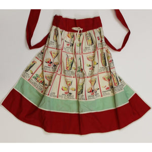Cherry & Mint Green Cocktail Recipes Apron