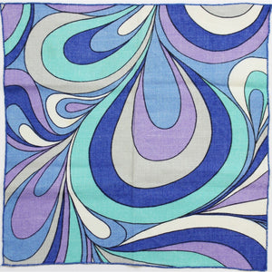 3 Matching Table Mats w/ Purple/Turquoise & Periwinkle Swirl Pattern