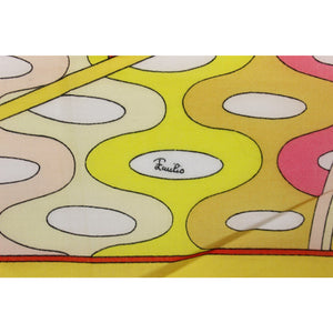 Emilio Pucci Pink & Yellow Ladies Pocket Square