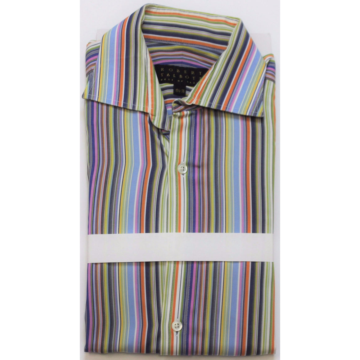 Robert Talbot Multicolor Stripe Shirt Sz: 15 1/2-36