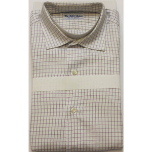 Lavender & Black Tattersall Check Spread Collar Shirt Sz: 16-35""