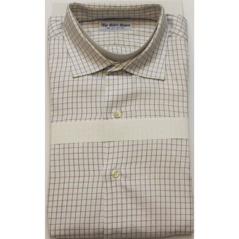 """Lavender & Black Tattersall Check Spread Collar Shirt"" Sz: 16-35"""