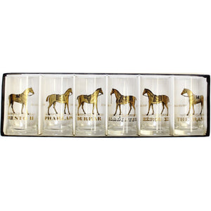 Set of 6 Racecourse Bar Glasses
