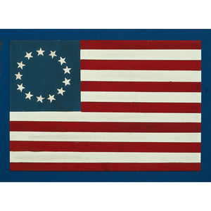 13 Star Wood Slat Flag