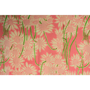 Set of 4 Lilly Pulitzer Pink & Lime Floral Print Curtain Panels