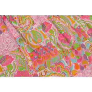 Key West Multicolor Tropical Floral & Paisley Print Glazed Fabric