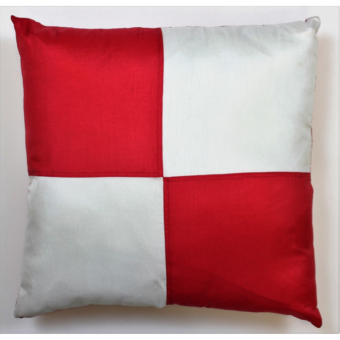 Pink Burgee Flag Silk Pillow