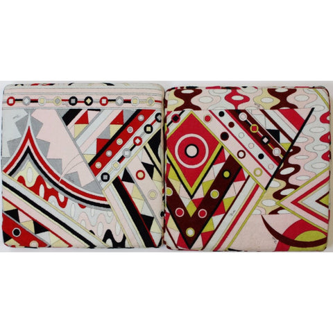Emilio Pucci Pair of Terry Cloth Seat Cushions