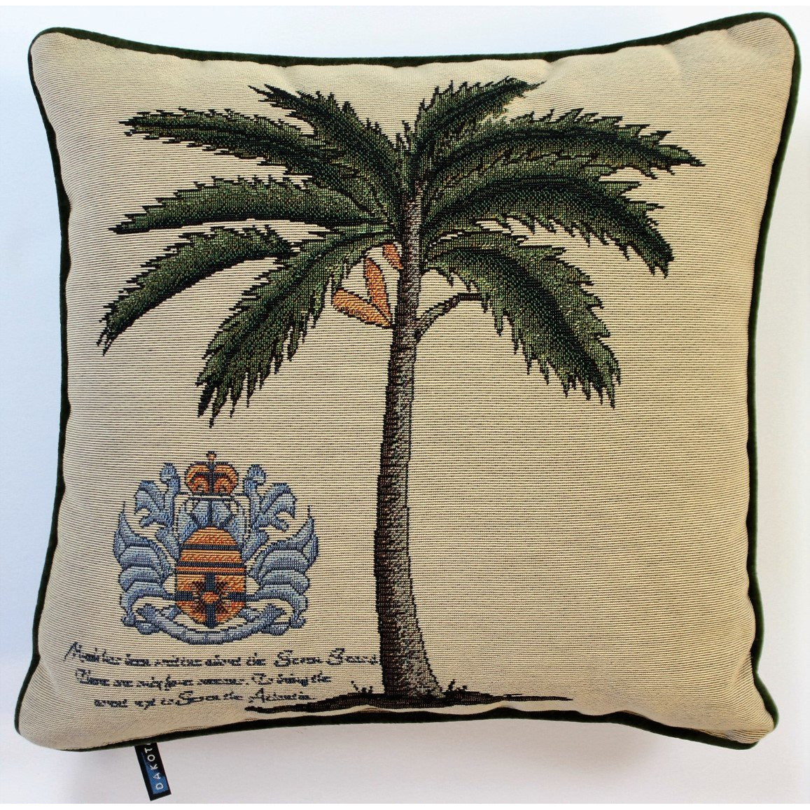 Twill Palm Tree Pillow