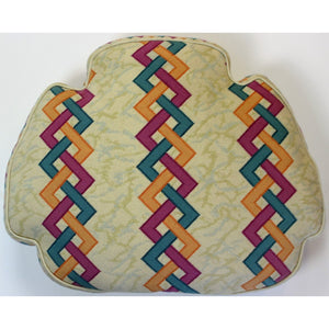 Needlepoint Abstract Seat Cushion