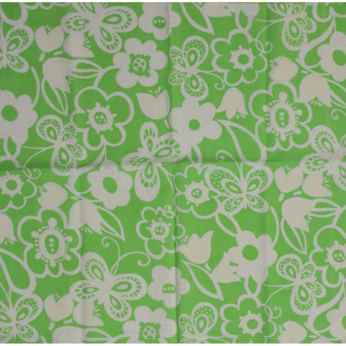 Pair of Vintage Lilly Pulitzer Tulip & Butterfly Green Table Mats