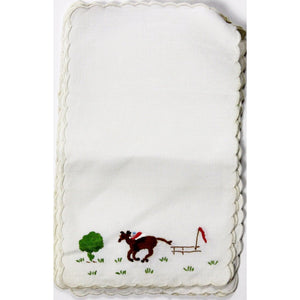 Set of 6 Madeira Linen 'Steeplechase' Cocktail Napkins