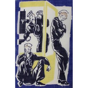 Set of 5 Royal Sailor Cocktail Napkins
