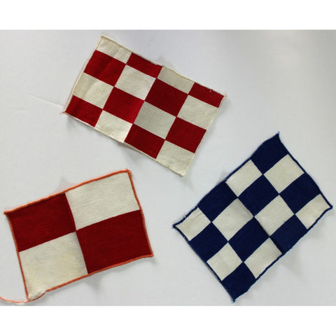 3pc. Nautical Navy & Red Flag Cocktail Napkins
